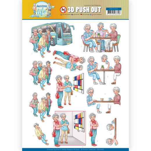 SB10400 - 3D Pushout - Yvonne Creations - Active Life - With Friends