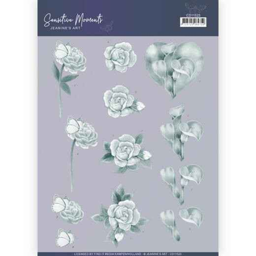 CD11523 - 3D Cutting Sheet - Jeanine's Art - Sensitive Moments - Grey Calla Lily