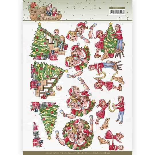 CD11730 - 3D Cutting Sheet - Yvonne Creations - The Heart of Christmas - Celebrating