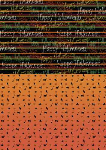 BGS10015 - Backgroundsheets - Yvonne Creations - Happy Halloween
