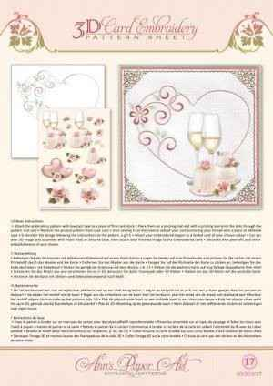 3DCE13017 - 3D Card Embroidery Pattern Sheets Heart