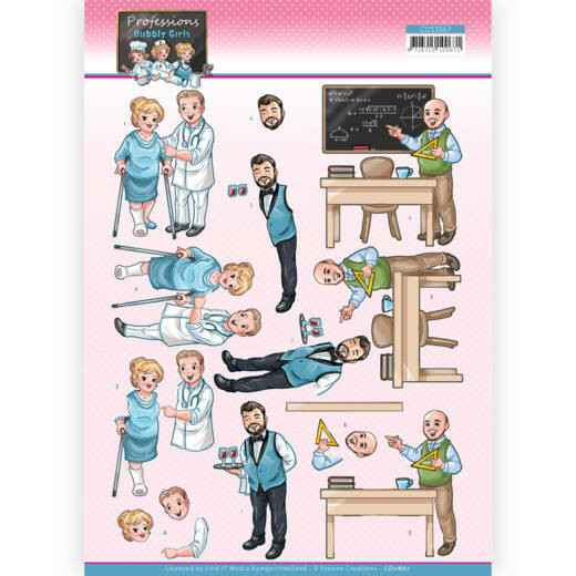 CD11667 - 3D Cutting Sheet - Yvonne Creations - Bubbly Girls Professions - Male Professions