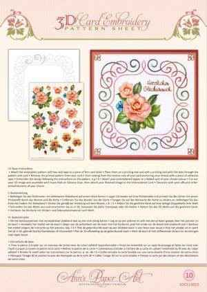 3DCE13010 - 3D Card Embroidery Pattern Sheets Camellia