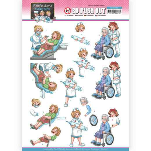 SB10548 - 3D Push Out - Yvonne Creations - Bubbly Girls Professions - Nurse
