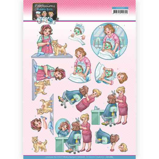 CD11665 - 3D Cutting Sheet - Yvonne Creations - Bubbly Girls Professions - Beautician