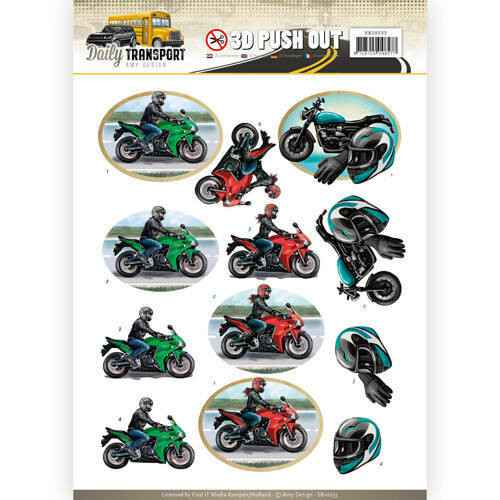 SB10233 - 3D Pushout - Amy Design - Daily Transport - Motor Cycling
