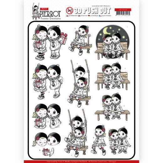 SB10430 - 3D Pushout - Yvonne Creations - Petit Pierrot - Happy Together