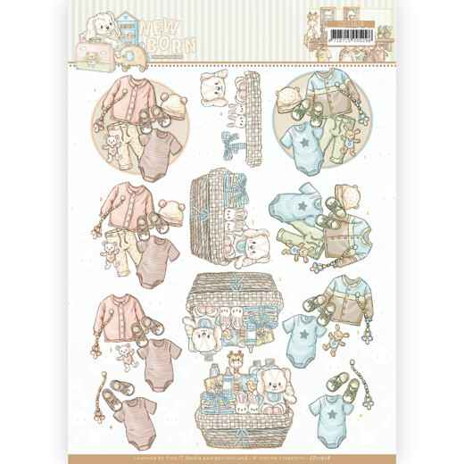 CD11628 - 3D cutting sheet - Yvonne Creations - Newborn - Baby Clothes