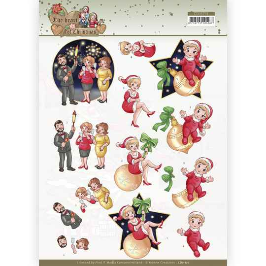 CD11731 - 3D Cutting Sheet - Yvonne Creations - The Heart of Christmas - Fireworks