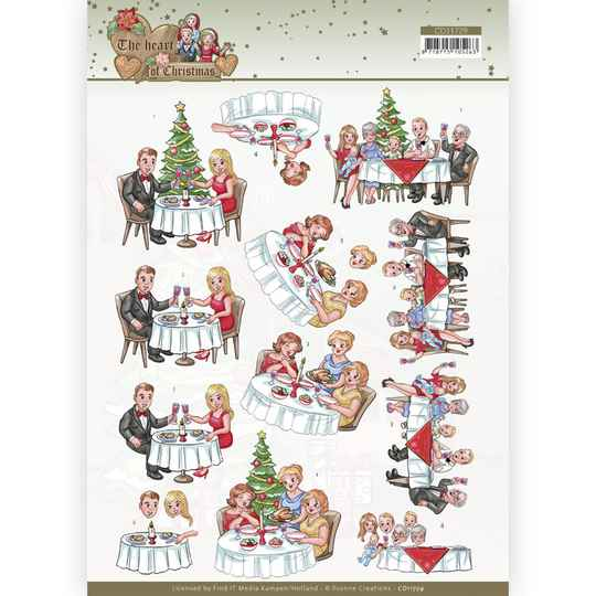 CD11729 - 3D Cutting Sheet - Yvonne Creations - The Heart of Christmas - Dining