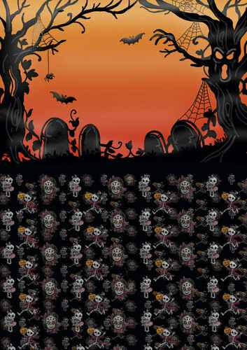 BGS10013 - Backgroundsheets - Yvonne Creations - Happy Halloween