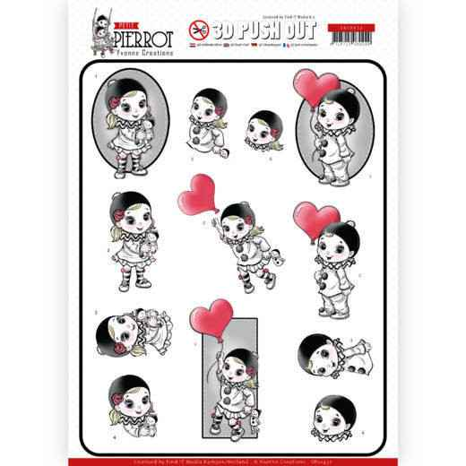 SB10432 - 3D Pushout - Yvonne Creations - Petit Pierrot - With Love