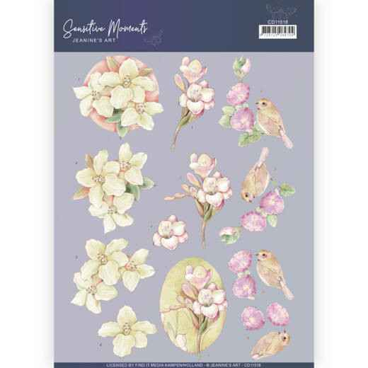 CD11518 - 3D Cutting Sheet - Jeanine's Art - Sensitive Moments - Freesias