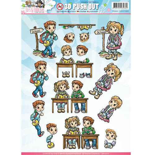 SB10145 - 3D Pushout - Yvonne Creations - Tots and Toddlers - School