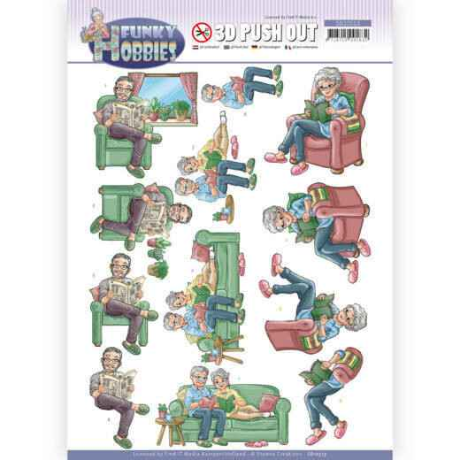 SB10513 - 3D Push Out - Yvonne Creations - Funky Hobbies - Reading
