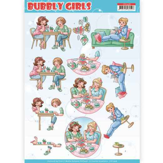 CD11308 - 3D Knipvel - Yvonne Creations- Bubbly Girls - Me Time