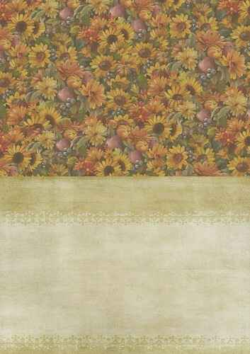 BGS10008 - Backgroundsheets - Amy Design - Autumn Moments - Sunflowers