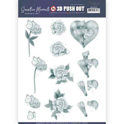 SB10473 - 3D Push Out - Jeanine's Art - Sensitive Moments - Grey Calla Lily