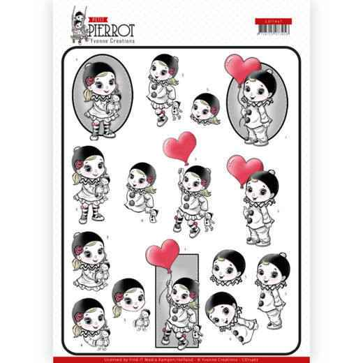 CD11467 - 3D Knipvel - Yvonne Creations - Petit Pierrot - With Love