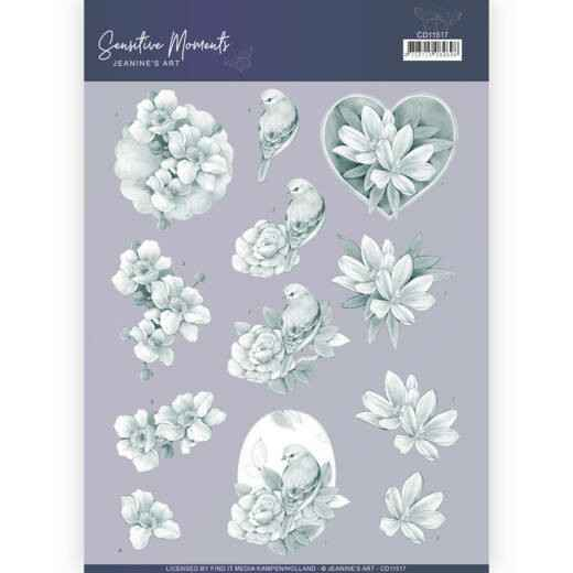 CD11517 - 3D Cutting Sheet - Jeanine's Art - Sensitive Moments - Grey Rose