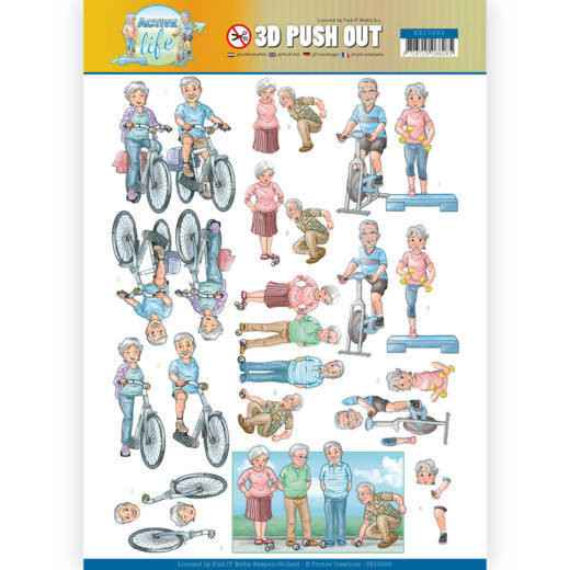 SB10398 - 3D Pushout - Yvonne Creations - Active Life - Active Moving