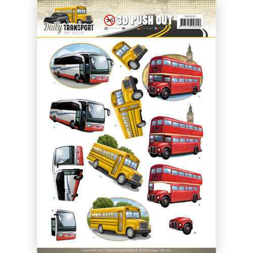 SB10232 - 3D Pushout - Amy Design - Daily Transport - By Bus