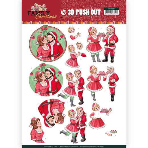 SB10391 - 3D Pushout - Yvonne Creations - Family Christmas - Loving Christmas
