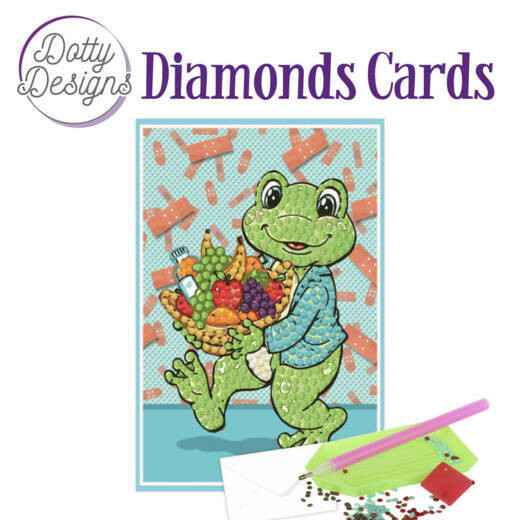 DDDC1008 - Dotty Designs Diamonds Cards - Get Well Frog 10x15