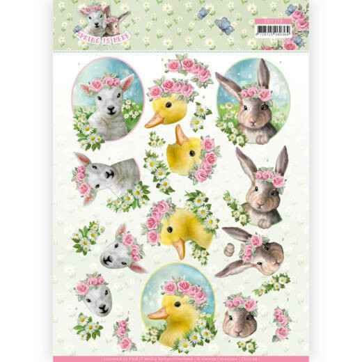 CD11276 - 3D Knipvel - Amy Design - Spring is Here - Baby Animals
