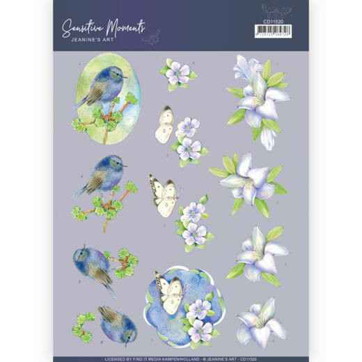 CD11520 - 3D Cutting Sheet - Jeanine's Art - Sensitive Moments - Lily