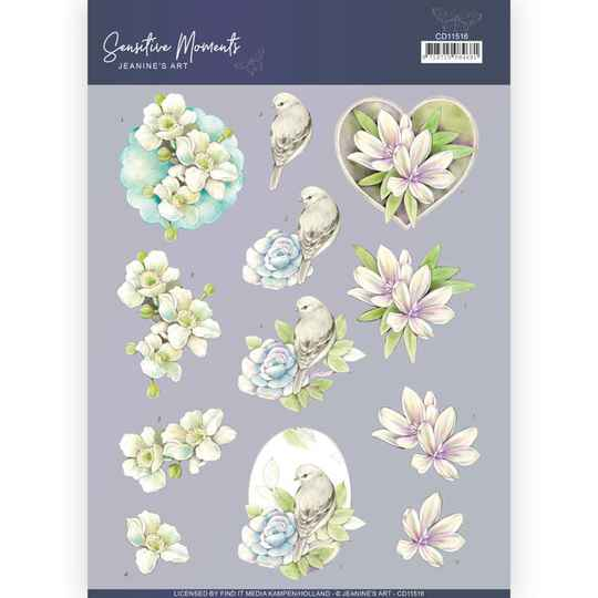 CD11516 - 3D Cutting Sheet - Jeanine's Art - Sensitive Moments - Rose