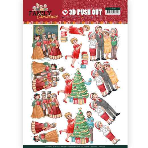 SB10393 - 3D Pushout - Yvonne Creations - Family Christmas - Celebrate Christmas