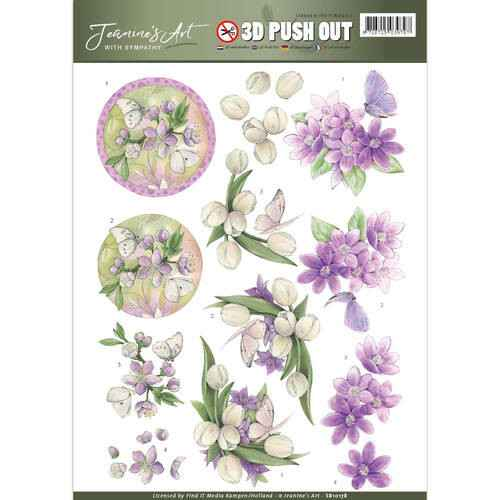 SB10178 - 3D Pushout - Jeanine's Art - With Sympathy - violet flowers