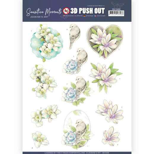 SB10466 - 3D Push Out - Jeanine's Art - Sensitive Moments - Rose