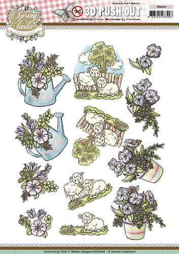 SB10141 - 3D Pushout - Yvonne Creations - Spring-tastic - Spring flowers