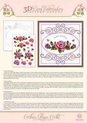3DCE13011 - 3D Card Embroidery Pattern Sheets Garden Enchanted