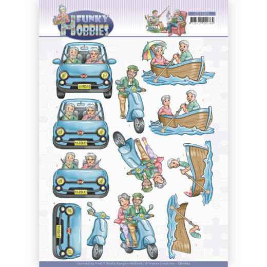 CD11605 - 3D cutting sheet - Yvonne Creations - Funky Hobbies - A day out