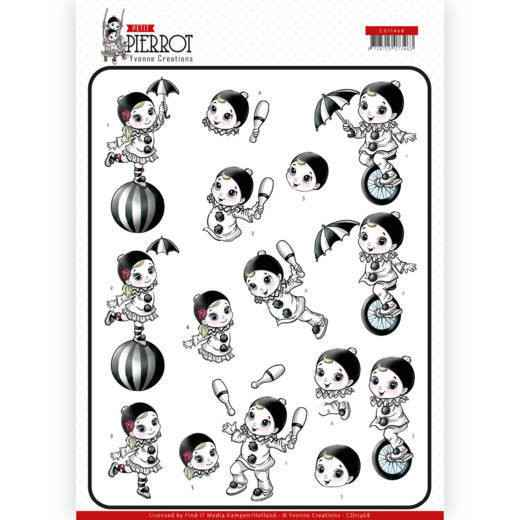 CD11468 - 3D Knipvel - Yvonne Creations - Petit Pierrot - At the Circus