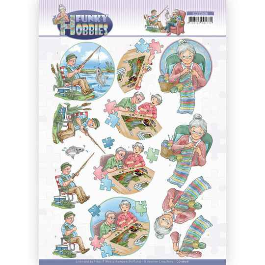 CD11606 - 3D cutting sheet - Yvonne Creations - Funky Hobbies - Knitting
