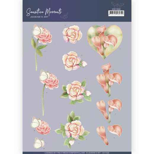 CD11522 - 3D Cutting Sheet - Jeanine's Art - Sensitive Moments - Calla Lily