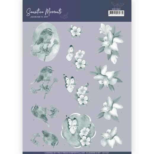 CD11521 - 3D Cutting Sheet - Jeanine's Art - Sensitive Moments - Grey Lily