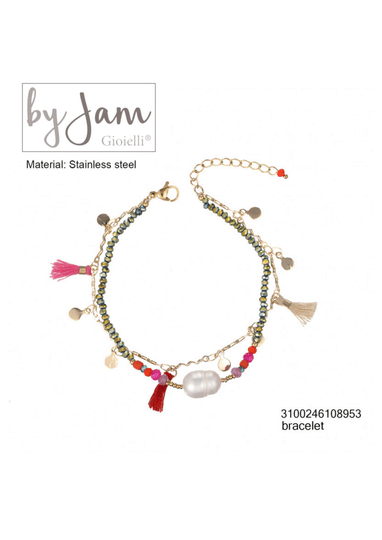 By Jam Gioielli | Armband - Pink pearl