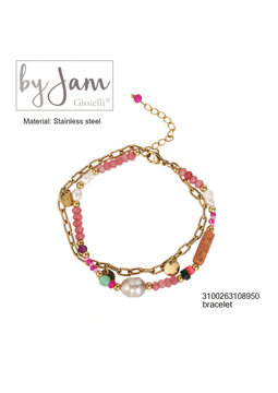 By Jam Gioielli | Armband - Colourful pink