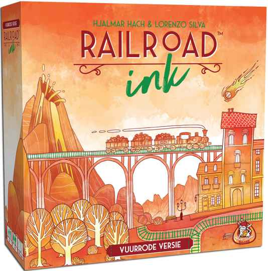 Railroad Ink - Vuurrode versie WGG1919 (White Goblin Games) 8+
