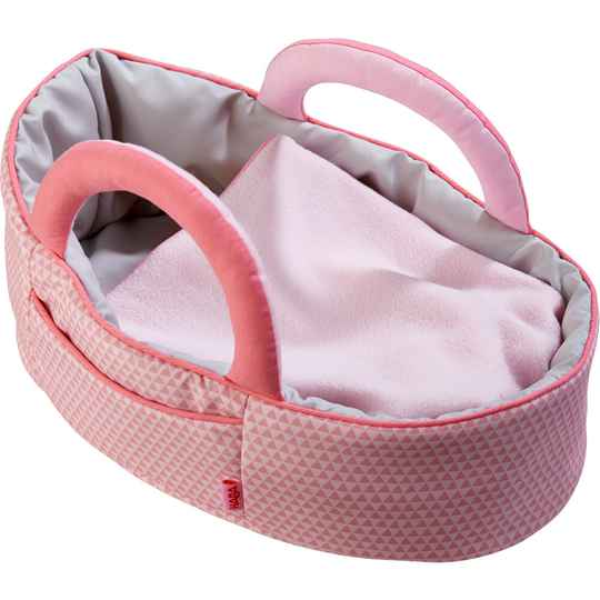 Poppendraagtas Roze / Couffin pour poupée Rose 305072 (Haba) 1,5+