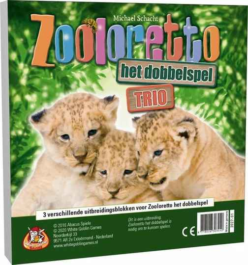 Zooloretto - Het dobbelspel: Trio (variabloks) WGG2027 (White Goblin Games) 7+