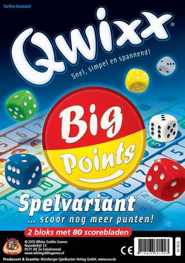 Qwixx - Big points (scoreblocks) WGG1516 (White Goblin Games) 8+