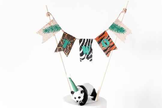 ❦ Jute jungle caketopper