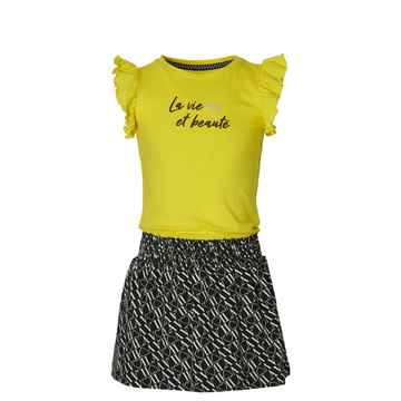 Quapi - Jurk Falijne Summer Yellow