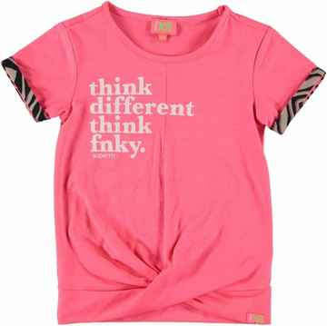 Funky XS - Shirt Text Fluo Pink
